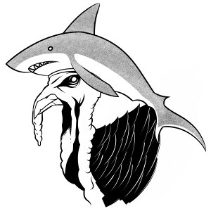 Zombie Turkey Shark Hat from Zombie Turkeys Newsletter