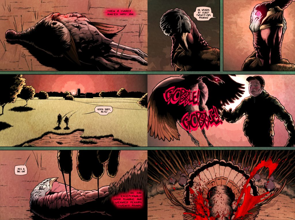 Zombie Turkeys graphic novel pages 3-4