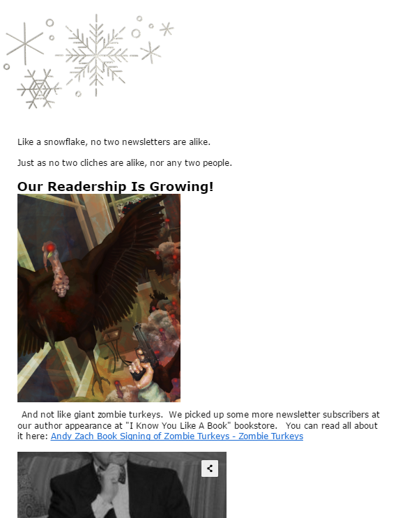 Free newsletter, books, gifts